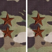 Air Force Officer Major General Pt-Ct 1 Inch Sew-on O-8 (OCP)