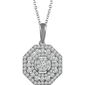 10K White Gold 1/2 CTW Diamond Pendant