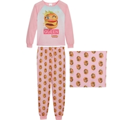 Squishies Girls Burger Queen 2 pc. Pajama Set with Gift