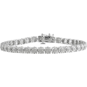 Sterling Silver 1/4 CTW Diamond Bracelet