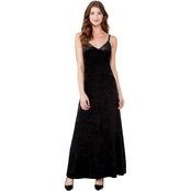 Michael Kors Crushed Velvet Tank Maxi Dress