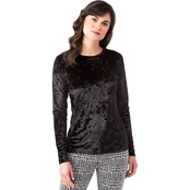 Michael Kors Paneled Velvet Basic Top