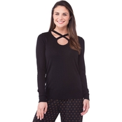 Michael Kors Cross Neck Top
