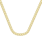 14K Yellow Gold 6.7mm Curb Chain Bracelet