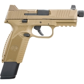 FN 509 Tactical 9MM 4.5 in. Barrel 24 Rds 3-Mags NS Pistol Flat Dark Earth