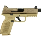 FN 509 Tactical 9MM 4.5 in. Barrel 10 Rds 3-Mags NS Pistol Flat Dark Earth