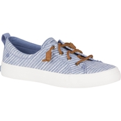 Sperry Women's Crest Vibe Chambray Stripe Sneakers