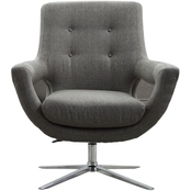 Armen Living Quinn Adjustable Swivel Chair