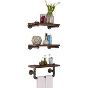 Armen Living Conrad 3 pc. Floating Shelf