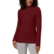 Karen Scott Petite Mock Neck Top