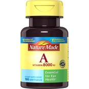 Nature Made Vitamin A 8000 IU Liquid Softgels 100 Ct.