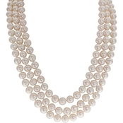 Imperial Triple Row Cultured Pearl Necklace