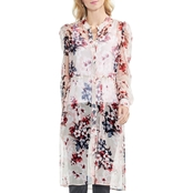 Vince Camuto Puff Shoulder Timeless Blooms Long Tunic