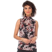 Vince Camuto Floral Blooms Smock Neck Blouse
