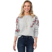 Vince Camuto Embroidered Sweatshirt