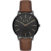 Armani Exchange AIX Men's Three-Hand Leather Watch AX270