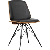 Armen Living Inez Mid-Century Dining Chair