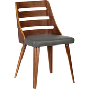 Armen Living Storm Mid-Century Dining Chair