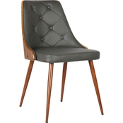 Armen Living Lily Mid-Century Dining Chair
