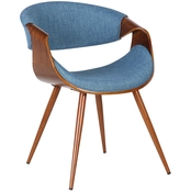 Armen Living Butterfly Mid-Century Dining Chair
