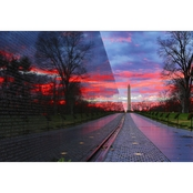 Capital Art The Viet Nam Memorial Wall at Sunset Wall Decor