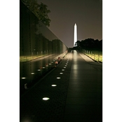Capital Art The Viet Nam Memorial Wall and Washington Memorial at Night Wall Decor