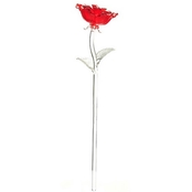 Waterford Fleurology 14.5 In. Colored Sculpted Glass Rose