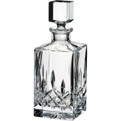 Waterford Lismore Black, Square Crystal Decanter, Clear