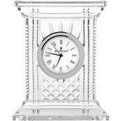 Waterford Crystal 7 In. Atrium Diamond and Wedge Cut Clock