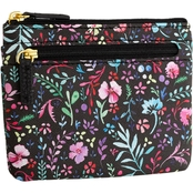 Buxton Enchanted Floral ID Coin Card Case