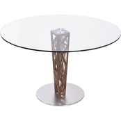 Armen Living Crystal Dining Table