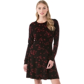 Michael Kors Petite Eden Rose Flare Dress