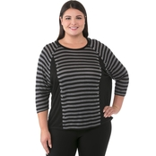 Michael Kors Plus Size Grommet Stripe Top