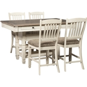 Signature Design by Ashley Bolanburg 5 pc. Counter Height Dining Set
