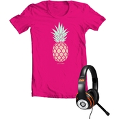 Ponytails Girls Life Is Sweet Tee and Headphones Set
