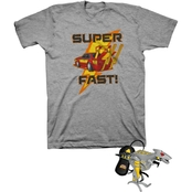 Buzzcuts Little Boys Super-Fast Car Tee with Remote Control Hover Helicopter