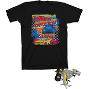 Buzzcuts Little Boys Speed Zone Cars Tee with Remote Control Hover Helicopter