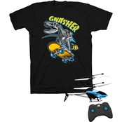 Buzzcuts Boys Bad Bones Boarder Tee with Remote Hover Helicopter