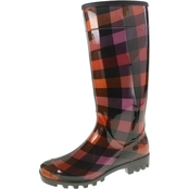 Dirty Laundry Tall Plaid Rainboots