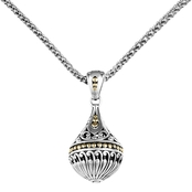 Robert Manse Designs Sterling Silver and 18K Yellow Gold Orb Pendant