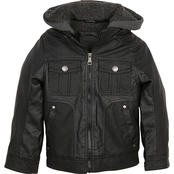 Urban Republic Little Boys Textured Faux Leather Jacket