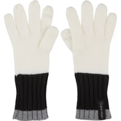 Calvin Klein Colorblock Knit Gloves