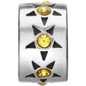 Nomades Sterling Silver Bright Star Yellow Charm Spacer