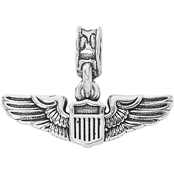 Nomades Sterling Silver Air Force Aviation Wings Charm