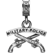 Nomades Sterling Silver Army Military Police Charm