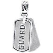 Nomades Sterling Silver National Guard Dog Tag Charm