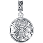 Nomades Sterling Silver U.S. Army Button Charm