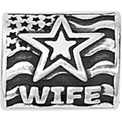 Nomades Sterling Silver Proud Army Wife Charm Spacer