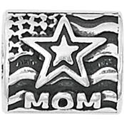 Nomades Sterling Silver Proud Army Mom Charm Spacer