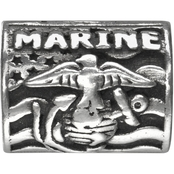 Nomades Sterling Silver Proud USMC Charm Spacer